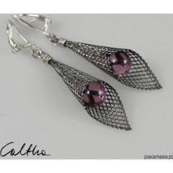 Biżuteria i zegarki: Liliowe w rożku – klipsy