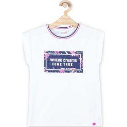 Coccodrillo - Top dziecięcy 128-158 cm. Białe bluzki dziewczęce marki COCCODRILLO, m, z bawełny, z okrągłym kołnierzem. Za 45,90 zł.
