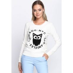 Kremowy Sweter Stir It Up. Białe swetry klasyczne damskie Born2be, l, z okrągłym kołnierzem. Za 39,99 zł.
