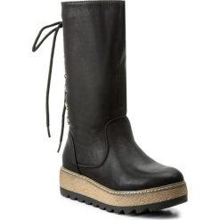 Kozaki JENNY FAIRY - WS16361-A Czarny. Czarne buty zimowe damskie Jenny Fairy, ze skóry ekologicznej, na obcasie. Za 139,99 zł.