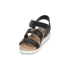 Sandały MICHAEL Michael Kors  REGGIE. Czarne sandały damskie marki MICHAEL Michael Kors, z gumy, przed kolano, na wysokim obcasie. Za 729,00 zł.