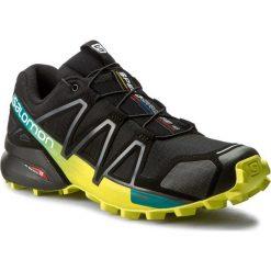 Buty SALOMON - Speedcross 4 392398 28 V0 Black/Everglade/Sulphur Spring. Czarne buty skate męskie Salomon, z materiału, na sznurówki, outdoorowe, salomon speedcross. W wyprzedaży za 349,00 zł.