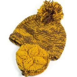 Czapka damska z uszami Melanż kolorów żółta. Żółte czapki zimowe damskie Art of Polo, melanż. Za 27,05 zł.