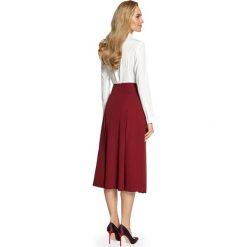 DELFINA Spódnica midi z kontrafałdami - bordowa. Czerwone spódnice wieczorowe Stylove, midi. Za 119,99 zł.