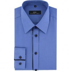 Koszula MARTINO 2 slim 16-03-09-K. Niebieskie koszule męskie na spinki Giacomo Conti, m, z bawełny, z klasycznym kołnierzykiem, z długim rękawem. Za 149,00 zł.