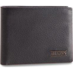 Duży Portfel Męski GUESS - SM2510 LEA24 BLA. Czarne portfele męskie marki Guess, z aplikacjami, ze skóry. Za 279,00 zł.