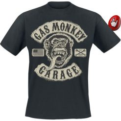 Gas Monkey Garage GMG Patch T-Shirt czarny. Czarne t-shirty męskie z nadrukiem Gas Monkey Garage, xl, z okrągłym kołnierzem. Za 89,90 zł.