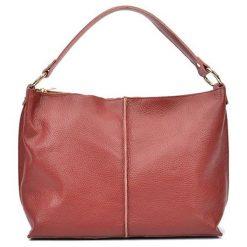 Torebki i plecaki damskie: Skórzana torebka w kolorze czerwonym – (S)44 x (W)26 x (G)13 cm