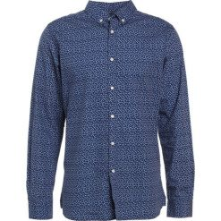 Koszule męskie na spinki: Knowledge Cotton Apparel DOT PRINTED POPLIN  Koszula peacoat