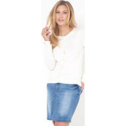 Swetry rozpinane damskie: Sweter z okrągłym dekoltem