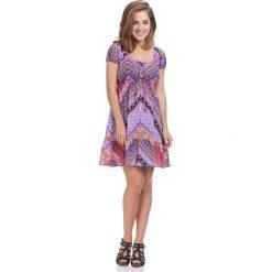 Sukienki hiszpanki: Sukienka w kolorze fioletowym ze wzorem