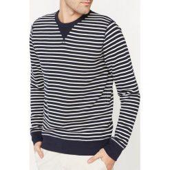 Bluza w paski z okrągłym dekoltem. Szare bluzy męskie rozpinane marki La Redoute Collections, m, z bawełny, z kapturem. Za 104,96 zł.