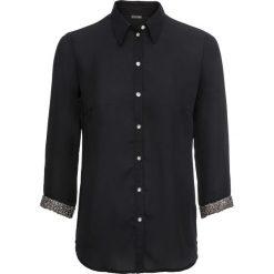 Bluzka z brokatowymi mankietami bonprix czarny. Czarne bluzki asymetryczne bonprix. Za 89,99 zł.