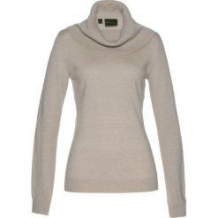 Golfy damskie: Sweter z szerokim golfem bonprix kamienisty melanż