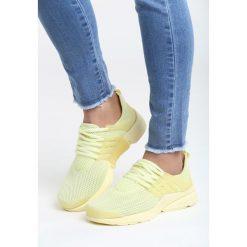 Żółte Buty Sportowe Soft. Żółte buty sportowe damskie Born2be, z materiału. Za 79,99 zł.