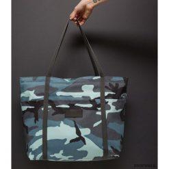 Duża Wygodna Torebka na Ramię MORO Niebieski. Niebieskie torebki klasyczne damskie Pakamera, moro, z bawełny, duże. Za 99,00 zł.