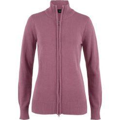 Kardigany damskie: Sweter rozpinany bonprix matowy jeżynowy