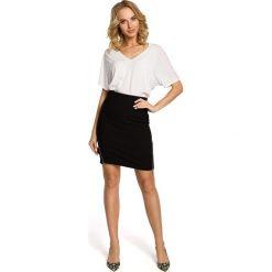 NICOLE Ołówkowa, mini spódnica z dwoma zamkami - czarna. Czarne minispódniczki Moe, ołówkowe. Za 109,99 zł.