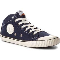 Trampki PEPE JEANS - Industry 1973 PMS30429  Navy 595. Niebieskie tenisówki męskie Pepe Jeans, z gumy. W wyprzedaży za 189,00 zł.