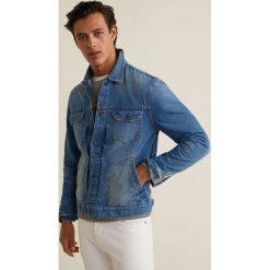 Mango Man - Kurtka jeansowa Paul3. Szare kurtki męskie jeansowe marki Mango Man, l. W wyprzedaży za 139,90 zł.