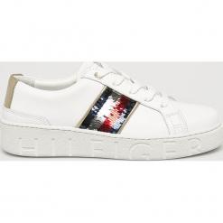 Tommy Hilfiger - Buty. Szare buty sportowe damskie marki TOMMY HILFIGER, m, z nadrukiem, z bawełny, casualowe, z okrągłym kołnierzem. Za 549,90 zł.