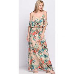 Sukienki: Beżowa Sukienka Dance You Off