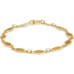 Złota bransoletka. Żółte bransoletki damskie na nogę Golden Moments, złote. W wyprzedaży za 489,95 zł.