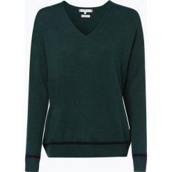 Tommy Hilfiger - Sweter damski z dodatkiem kaszmiru, zielony. Zielone swetry klasyczne damskie TOMMY HILFIGER, s, z kaszmiru, z kontrastowym kołnierzykiem. Za 599,95 zł.
