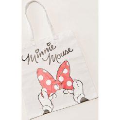 Torebki klasyczne damskie: Materiałowa torba minnie mouse – Biały