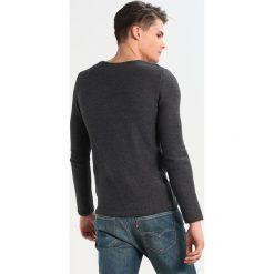 Swetry klasyczne męskie: Solid JARAH Sweter dark grey