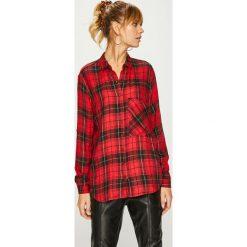 Answear - Koszula. Brązowe koszule damskie ANSWEAR, l, w kratkę, z tkaniny, casualowe, z klasycznym kołnierzykiem, z długim rękawem. Za 99,90 zł.