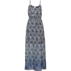 Długie sukienki: Długa sukienka bonprix niebieski wzorzysty