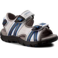 Sandały GEOX - J S.Strada A J4224A 0CE14 C0556 White/Royal. Białe sandały męskie skórzane Geox. W wyprzedaży za 169,00 zł.