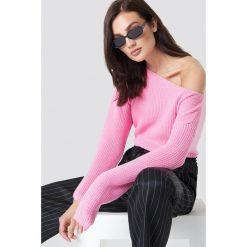 Josefin Ekström for NA-KD Krótki sweter z dzianiny - Pink. Różowe swetry klasyczne damskie Josefin Ekström for NA-KD, m, z bawełny. Za 161,95 zł.