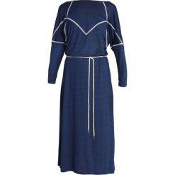 Iden PANNELLED DRESS Długa sukienka indigo. Niebieskie długie sukienki Iden, xs, z dżerseju, z długim rękawem. Za 619,00 zł.