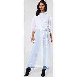 Płaszcze damskie pastelowe: NA-KD Boho Sukienka-płaszcz z szyfonu – White