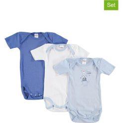 Body niemowlęce: Body (3 szt.) w kolorze niebiesko-białym