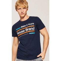 T-shirt Granatowy. Niebieskie t-shirty męskie House, l. Za 29,99 zł.