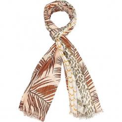 """Szal """"Tanzania"""" w kolorze jasnobrązowym - 180 x 100 cm. Brązowe szaliki damskie Scottage, z materiału. W wyprzedaży za 40,95 zł."""