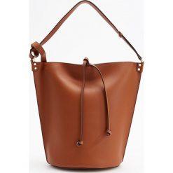 Torebka na ramię - Pomarańczo. Czarne torebki klasyczne damskie marki B'TWIN, z materiału. Za 129,99 zł.
