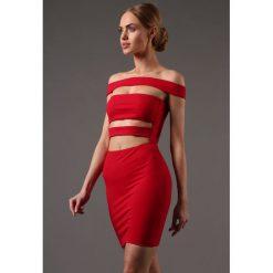 Sukienka Czerwona KIKI53240. Czerwone sukienki Fasardi, l, wizytowe. Za 99,00 zł.