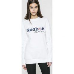 Reebok Classic - Bluza. Szare bluzy z nadrukiem damskie marki Reebok Classic, m, z bawełny, bez kaptura. W wyprzedaży za 129,90 zł.