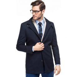Płaszcz FLORIANO PSGS000067. Niebieskie płaszcze na zamek męskie Giacomo Conti, m, klasyczne. Za 799,00 zł.
