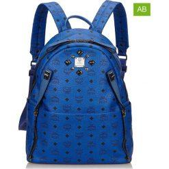 Plecaki damskie: Skórzany plecak w kolorze niebieskim – 33,5 x 41 x 16 cm
