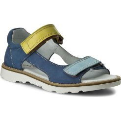 Sandały MIDO - 41-01 Jeans. Niebieskie sandały męskie skórzane Mido. W wyprzedaży za 139,00 zł.