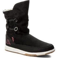 Kozaki KAPPA - Cream T 260513T Black/Pink 1122. Czarne buty zimowe damskie marki Kazar, ze skóry, na wysokim obcasie. Za 129,00 zł.