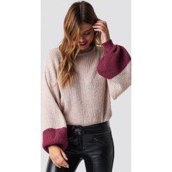 Swetry klasyczne damskie: Trendyol Sweter z bufiastym rękawem - Pink