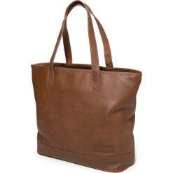 """Skórzana torebka """"Flask"""" w kolorze brązowym - 33 x 34 x 14 cm. Brązowe torby na laptopa marki Eastpak, z materiału. W wyprzedaży za 434,95 zł."""
