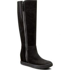 Kozaki GEOX - D Amaranth H. B D54S9B 00022 C9999 Czarny. Czarne buty zimowe damskie marki Kazar, ze skóry, na wysokim obcasie. W wyprzedaży za 389,00 zł.