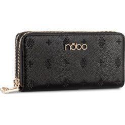 Duży Portfel Damski NOBO - NPUR-D1021-C020 Czarny. Czarne portfele damskie Nobo, ze skóry ekologicznej. W wyprzedaży za 89,00 zł.